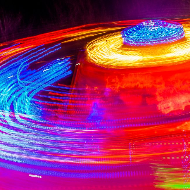 Photo manège type light painting
